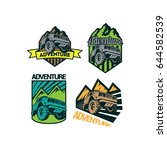 4 off road adventure logo | Shutterstock .eps vector #644582539
