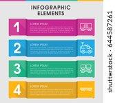 modern wagon infographic... | Shutterstock .eps vector #644587261