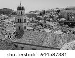 a monochrome image of the... | Shutterstock . vector #644587381