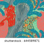 colored with different brush... | Shutterstock .eps vector #644589871