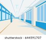 interior of school hall in flat ...   Shutterstock .eps vector #644591707