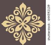 oriental vector pattern with... | Shutterstock .eps vector #644592139