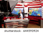 weather forecast. a television... | Shutterstock . vector #644593924