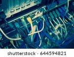 close up of network internet... | Shutterstock . vector #644594821