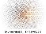 dark orange vector abstract... | Shutterstock .eps vector #644595139
