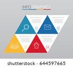 modern info graphic template...   Shutterstock .eps vector #644597665