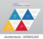 modern info graphic template...   Shutterstock .eps vector #644601265