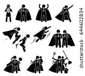 heroine female superhero.... | Shutterstock .eps vector #644602834