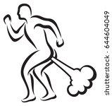 man farting vector illustration    Shutterstock .eps vector #644604049