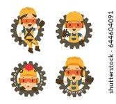 character constructor in gear... | Shutterstock .eps vector #644604091