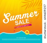 summer sale template banner or... | Shutterstock .eps vector #644609257