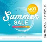 summer sale template banner or...   Shutterstock .eps vector #644609341
