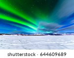 spectacular display of intense... | Shutterstock . vector #644609689