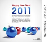 new year or christmas vector... | Shutterstock .eps vector #64461007