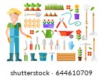 gardening and horticulture ... | Shutterstock .eps vector #644610709