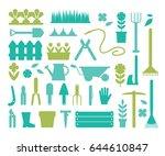 gardening and horticulture ... | Shutterstock .eps vector #644610847