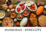 assorted indian recipes food... | Shutterstock . vector #644611291