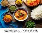 chicken jalfrazy indian food... | Shutterstock . vector #644611525