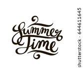 summer time poster or logo.... | Shutterstock .eps vector #644611645
