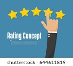 rating golden stars. customer... | Shutterstock .eps vector #644611819