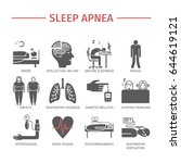 sleep apnea. symptoms treatment ... | Shutterstock .eps vector #644619121