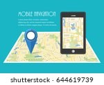 map. the concept of navigation. ... | Shutterstock .eps vector #644619739