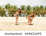 two beautiful young girl in... | Shutterstock . vector #644621695