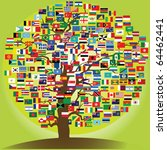 peace tree symbol of the... | Shutterstock .eps vector #64462441