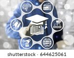 education smart industry 4.0... | Shutterstock . vector #644625061