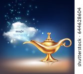 Aladdin Lamp Cloud Conceptual...