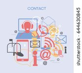 contact background. template... | Shutterstock .eps vector #644630845