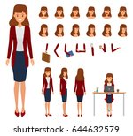 woman character constructor for ... | Shutterstock .eps vector #644632579