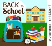 primary education poster with... | Shutterstock .eps vector #644633647