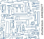 hardware tool set linear... | Shutterstock .eps vector #644633677