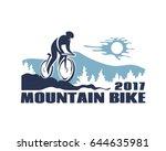 mountain bike vector icon. | Shutterstock .eps vector #644635981