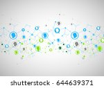 social media vector background. ... | Shutterstock .eps vector #644639371