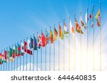 flags of different countries on ... | Shutterstock . vector #644640835