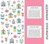 vector vertical banner template ...   Shutterstock .eps vector #644646559