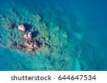 top view of the sea reefs | Shutterstock . vector #644647534