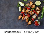Chicken Kebab On Skewers With...