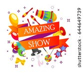 event tickets for magic show in ... | Shutterstock .eps vector #644649739