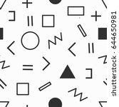 geometric memphis pattern  ... | Shutterstock .eps vector #644650981