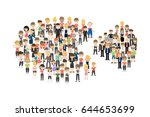 pie chart with people. | Shutterstock .eps vector #644653699