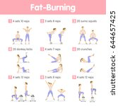 fat burning training. | Shutterstock .eps vector #644657425