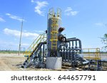 the pipe and valve oil fields  | Shutterstock . vector #644657791