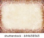 old paper with floral frame   Shutterstock . vector #644658565