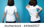 good posture and bad posture....   Shutterstock . vector #644660527