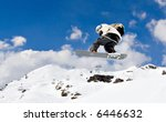 young snowboarder jumping... | Shutterstock . vector #6446632