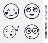 Smile Icons Set. Set Of 4 Smil...