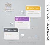 infographics design template... | Shutterstock .eps vector #644665774